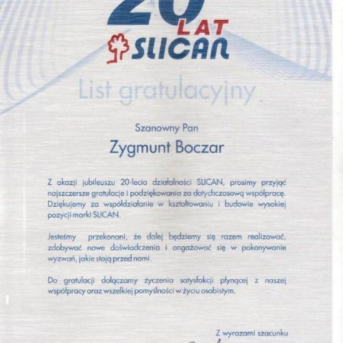 certyfikat slican