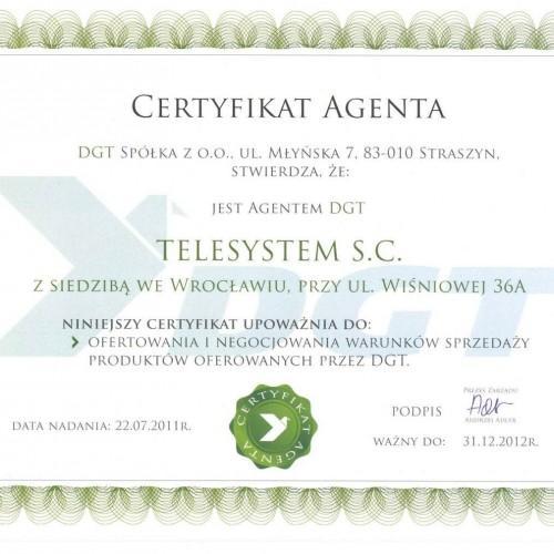Certyfikat agenta