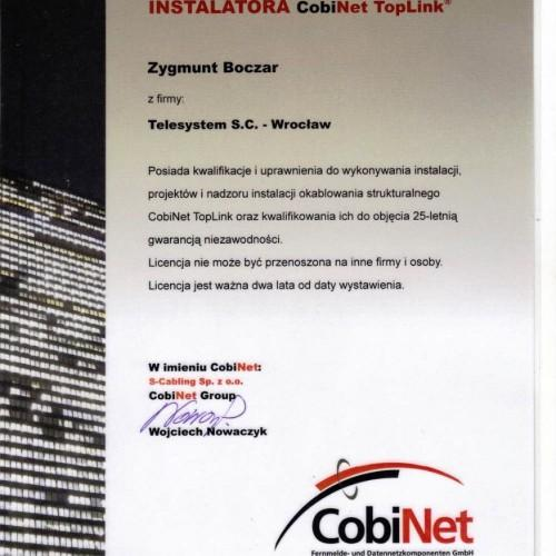 Cobinet certyfikat