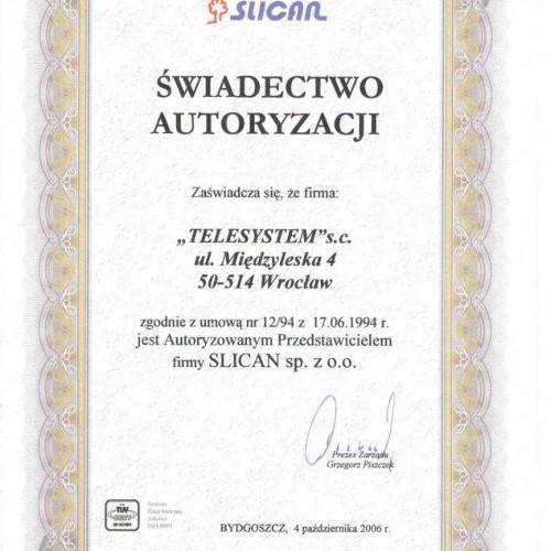 Telesystem certyfikat slican