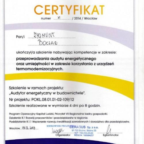 Telesystem certyfikat
